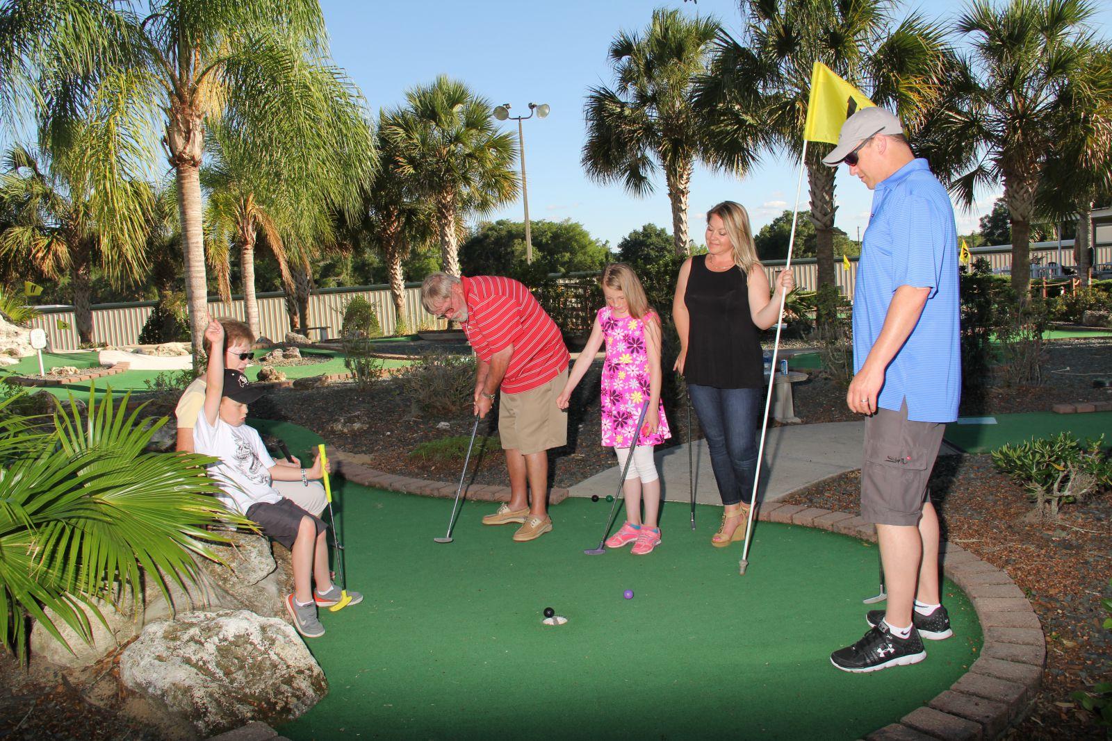 Tree Tops Golf Miniature Golf Course Designs Bats on